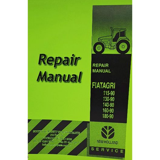 MANUAL WORKSHOP 115-90 TO 180-90 (Part Number: MANWSFIAT115-90) - Call South Burnett Tractor Parts on 07 4164 2000