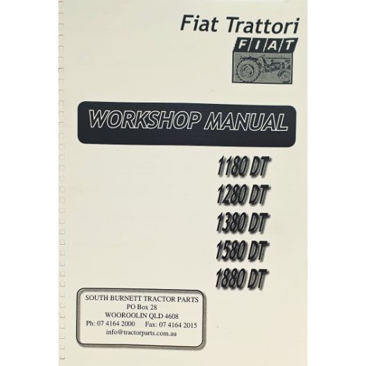 MANUAL WORKSHOP 1180 TO 1880 (Part Number: MANWSFIAT1180) - Call South Burnett Tractor Parts on 07 4164 2000