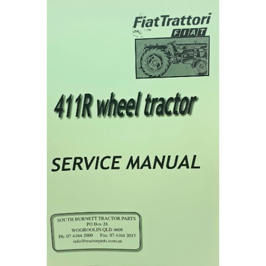 MANUAL WORKSHOP  FIAT 411R (Part Number: MANWSFIAT411R) - Call South Burnett Tractor Parts on 07 4164 2000