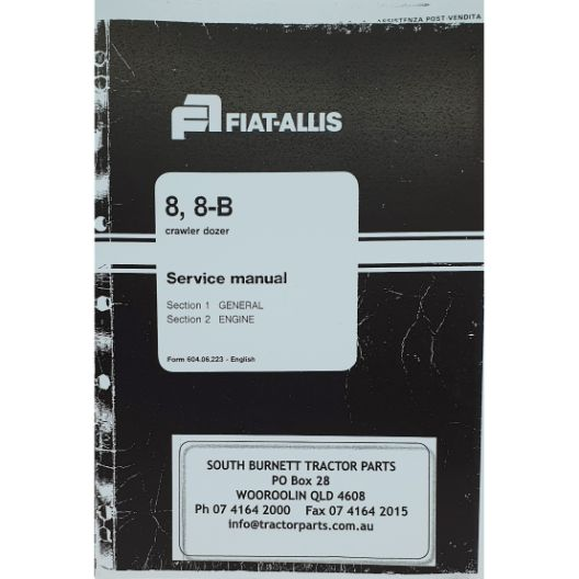 MANUAL WORKSHOP FIAT 8 & 8B COMPLETE (Part Number: MANWSFIAT8B) - Call South Burnett Tractor Parts on 07 4164 2000