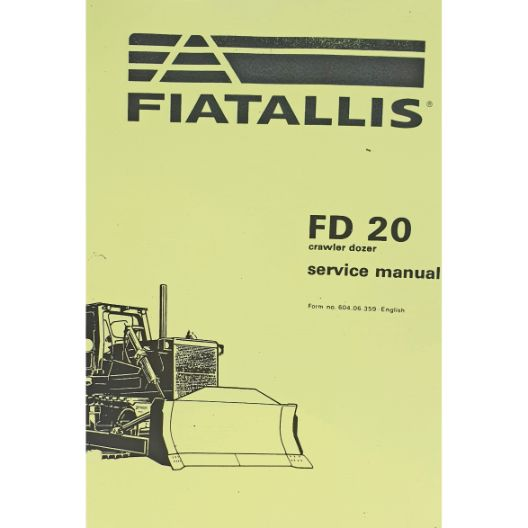 MANUAL WORKSHOP FIAT FD20  (Part Number: MANWSFIATFD20) - Call South Burnett Tractor Parts on 07 4164 2000